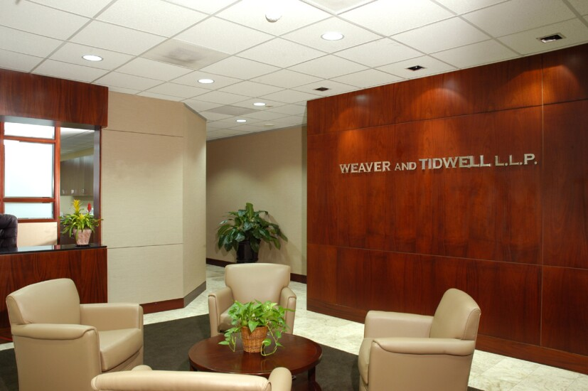 Weaver's lobby in its Houston office