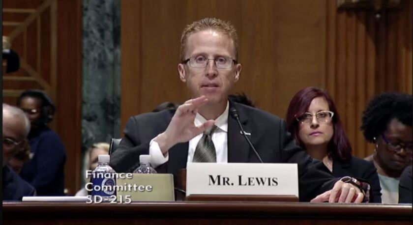 Troy K. Lewis, former chair of the AICPA's Tax Executive Committee and a professor at Brigham Young University