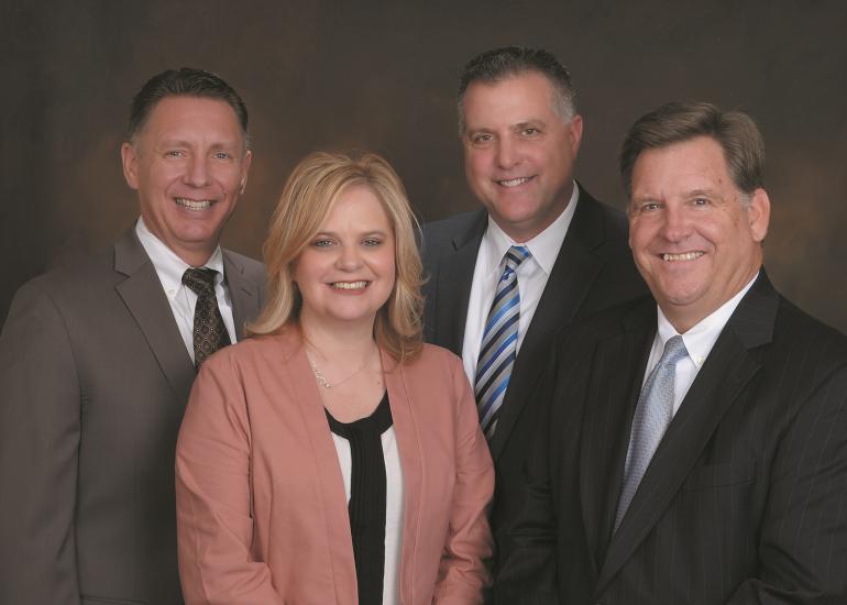 RBC wealth management team Paul DeBey (left), April Emeola, Chris Cassaday, Jeff Bahnson (right) April 2017