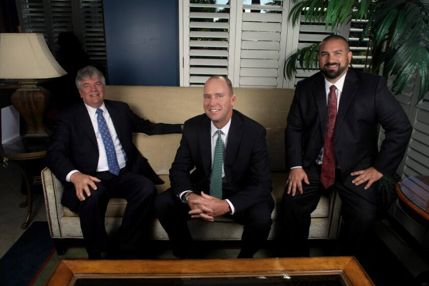 """To go independent, a $175 million team picked Kestra as a partner, citing the support it provides wirehouse breakaways. """"It's a concierge level of service,"""" Brendan McCarthy says. Pictured from left to right: Dennis Laughlin, McCarthy and Brian Laughlin."""
