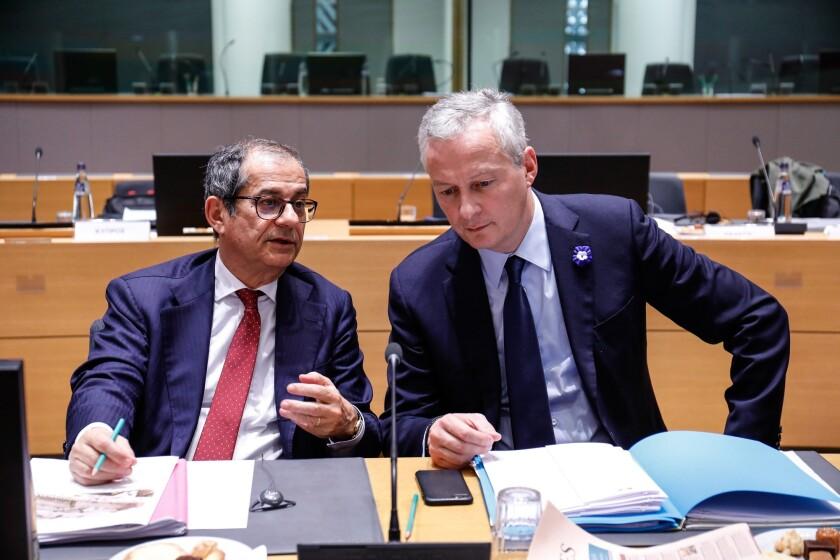 Bruno Le Maire and Giovanni Tria