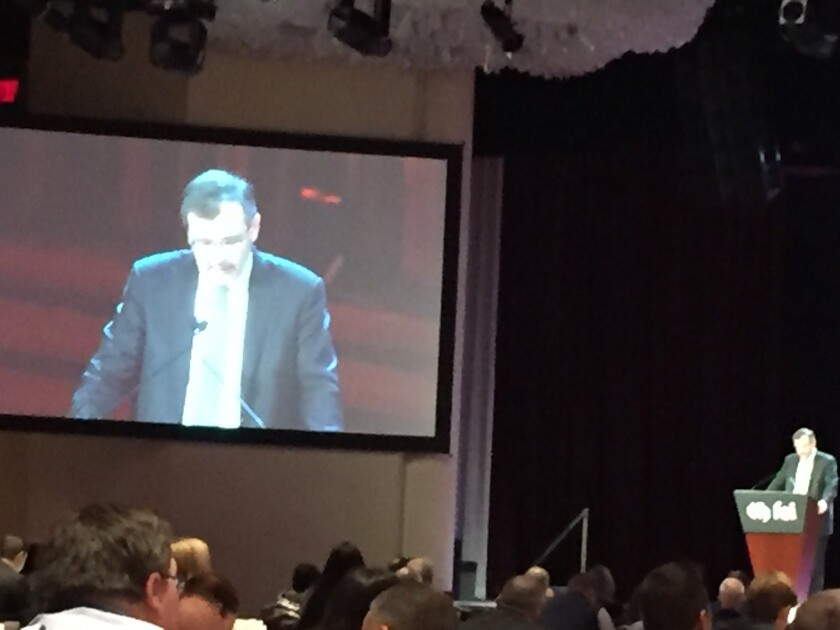 SEC chief accountant Wesley Bricker at Financial Executives International's Current Financial Reporting Issues conference