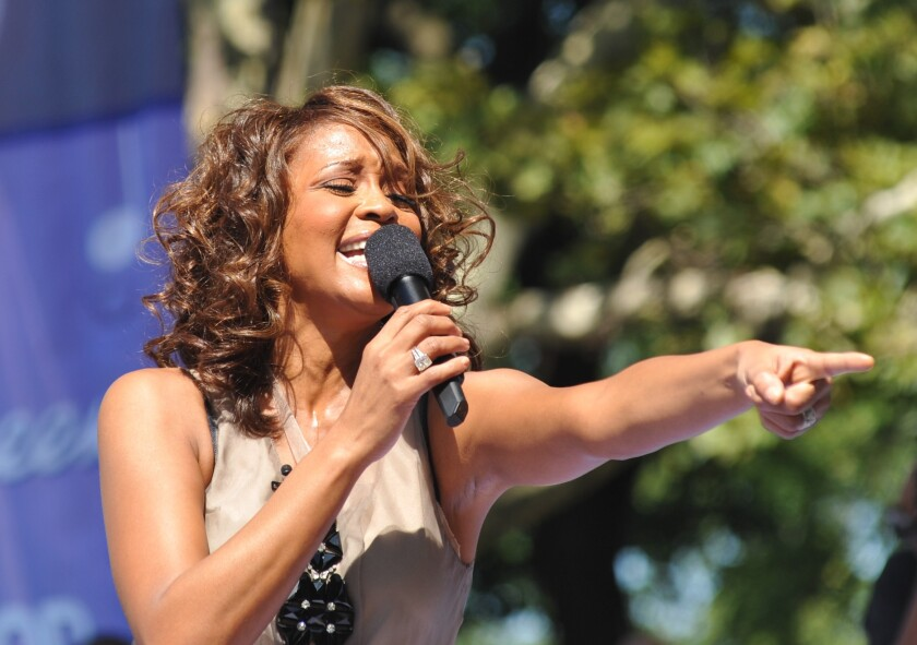 Whitney Houston performing on Good Morning America in 2009