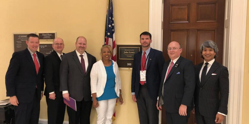 Georgia Society of CPAs members  visit the offices of Rep. John Lewis, D-Ga.