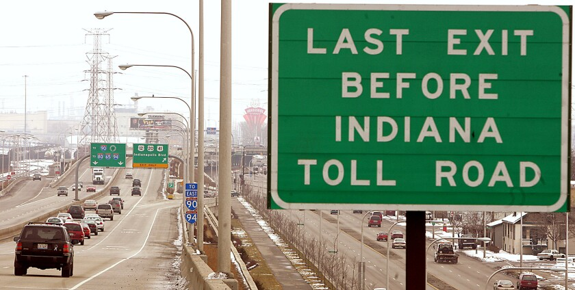 A toll road in Indiana