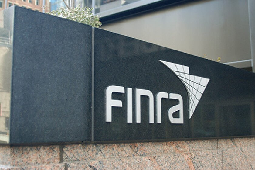 FINRA sanctions former JPMorgan rep for alleged false claims about fraudulent credit card charges.