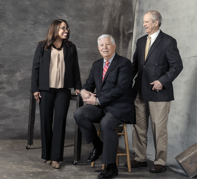 Michelle Scarver (left), Conrad Netting (center) and Don Pace (right)