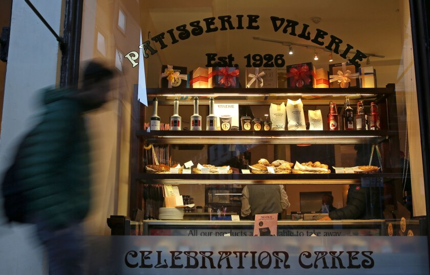 A branch of a Patisserie Valerie cafe in London