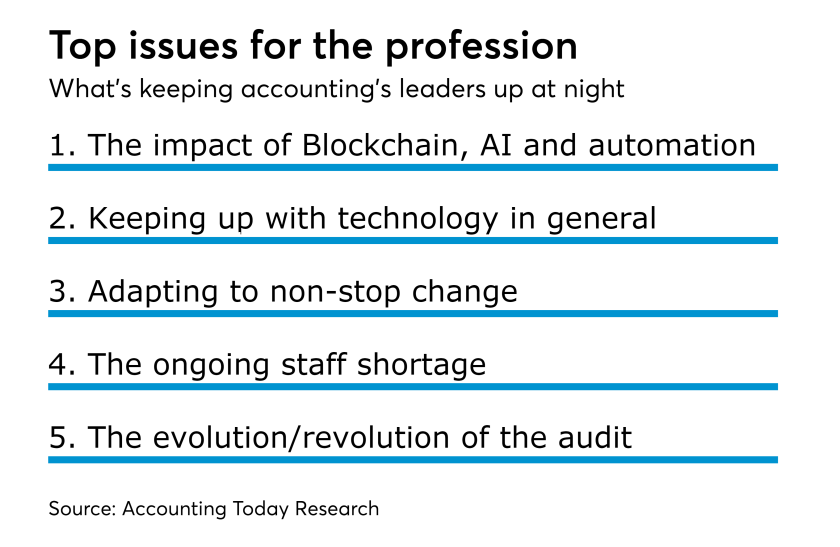 Top issues for the accounting profession