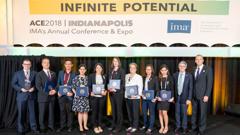 Winners of the IMA CMA Examination Awards and Priscilla S. Payne Outstanding Student Performance awards