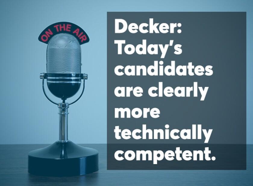 Decker podcast screen