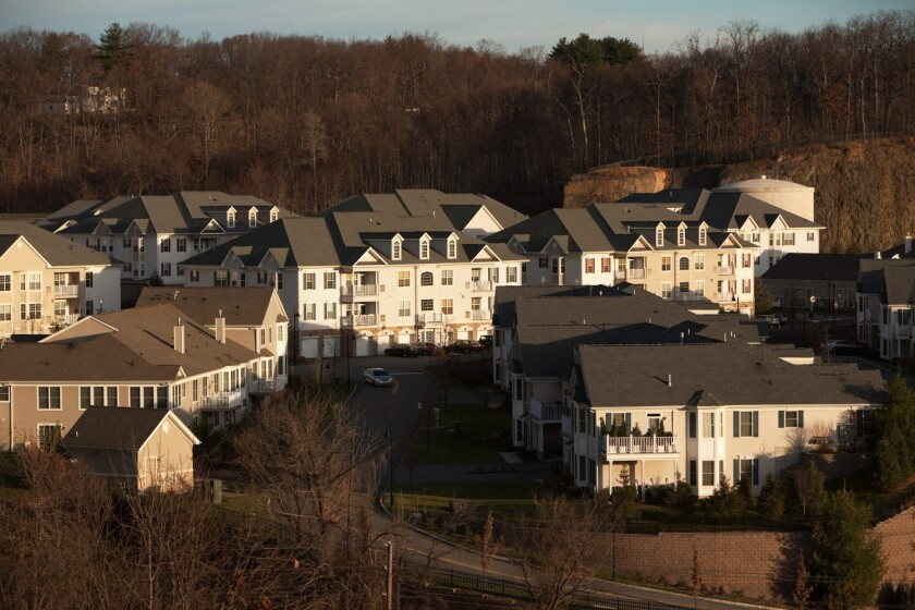Townhouses in the Hovnanian Enterprises Inc. Four Seasons at Great Notch Spa and Club development in Woodland Park, New Jersey