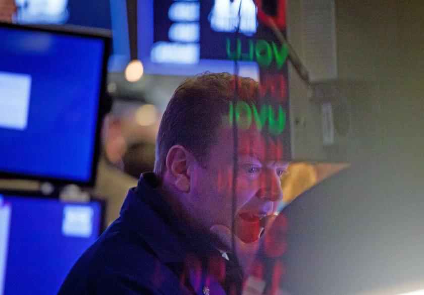 NYSE stock trader