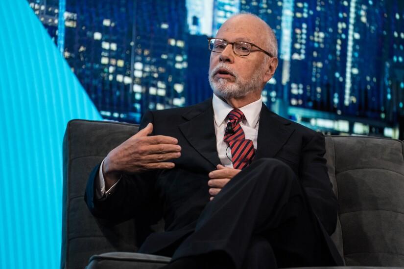 Paul Singer, founder and president of Elliott Management, speaks during the Bloomberg Invest Summit in New York.