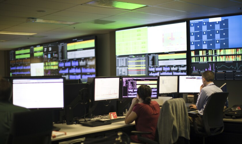 Raymond James' technology command center at its headquarters.