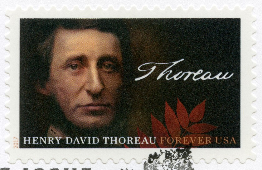 Henry David Thoreau stamp, 2017