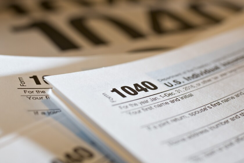 IRS Form 1040 arrangement