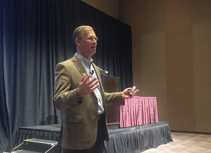 CPA.com's Erik Asgeirsson addresses a session at the 2018 Engage event