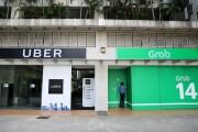Uber and Grab signage