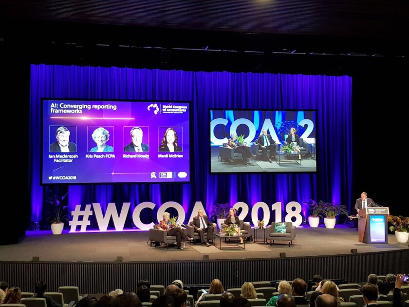 World Congress of Accountants panel on converging reporting frameworks
