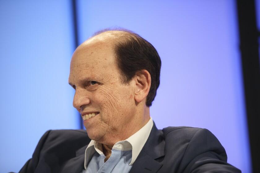 Michael Milken, chairman of the Milken Institute, listens during the Montgomery Summit in Santa Monica, California, 2017
