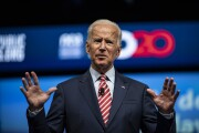 Former Vice President Joe Biden, 2020 Democratic presidential candidate, speaks during the National Education Association #StrongPublicSchools Presidential Forum in Houston on July 5, 2019.