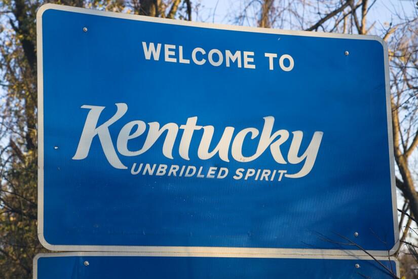 Kentucky Welcome Sign