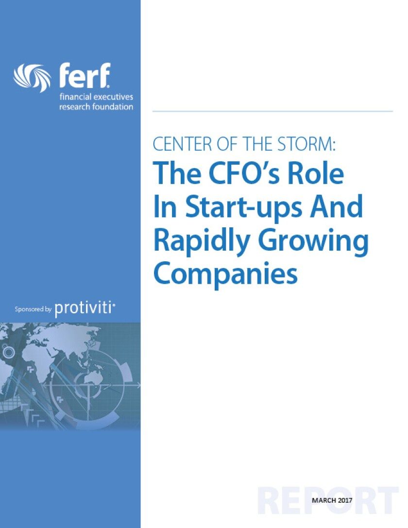 FERF and Protiviti report on the CFO's Role in Startups and Rapidly Growing Companies