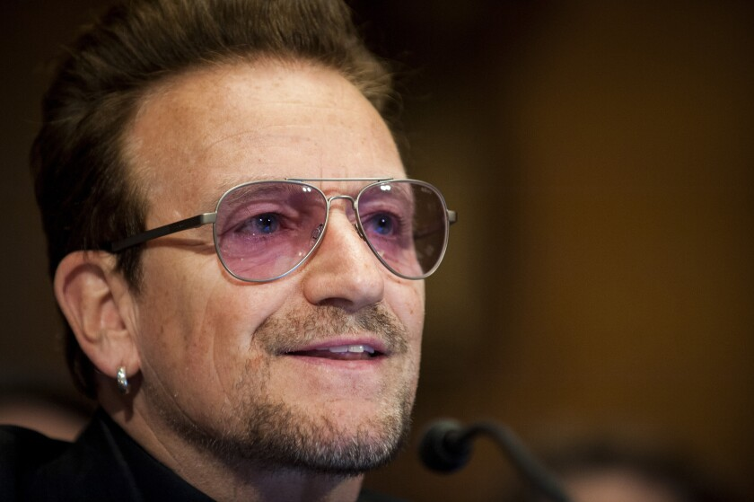 """Capitalism isn't immoral, but it is amoral and it needs direction,"" said Bono, U2 frontman and co-founder of TPG Growth."