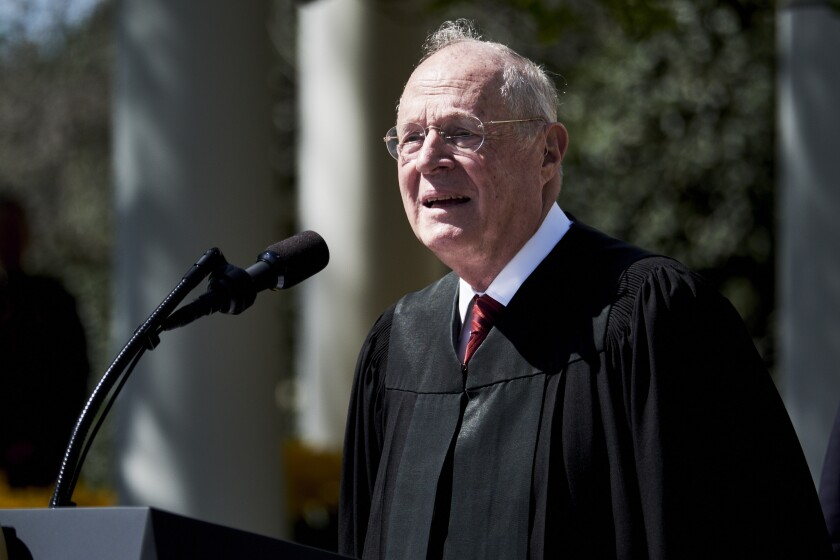 Associate Supreme Court Justice Anthony Kennedy