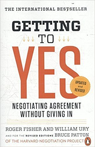 Book cover - Getting to Yes