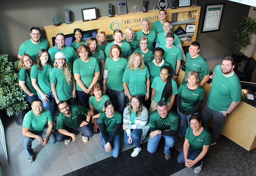 Staff from Ohio's Skoda Minotti, one of the 2019 Best Firms to Work For