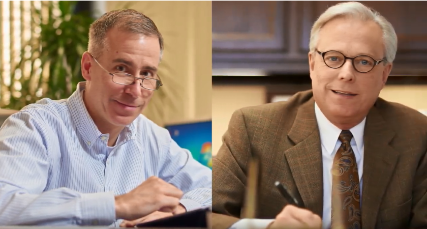 FASB chairman Russell Golden (left) and GASB chairman David Vaudt
