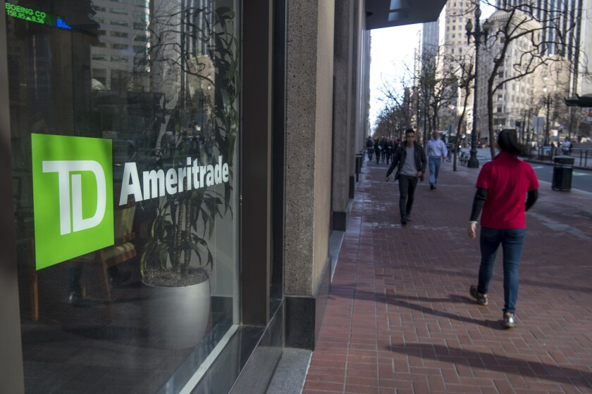 TD Ameritrade building photo Bloomberg News