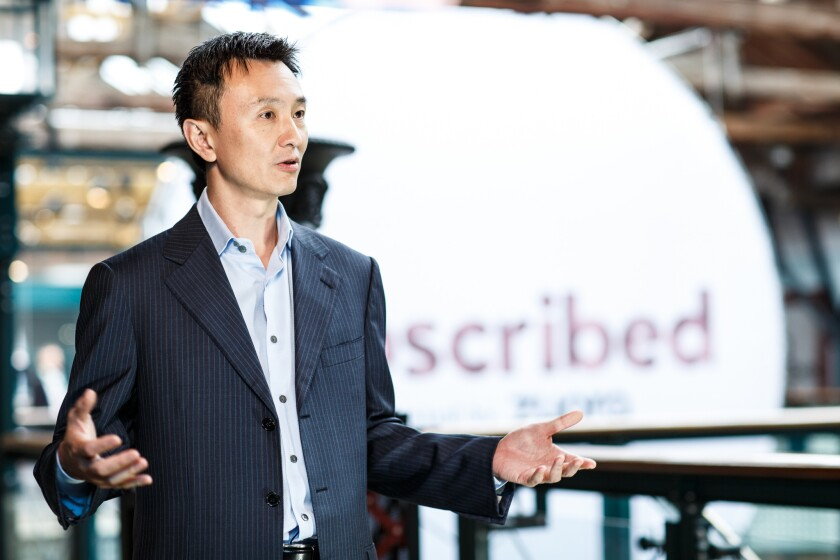 Zuora CEO Tien Tzuo at the company's Subscribed conference in New York