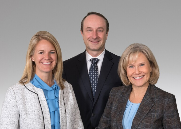Baird advisors Margaret R. Price, Grant F. Shearer and Sarah K. Springer