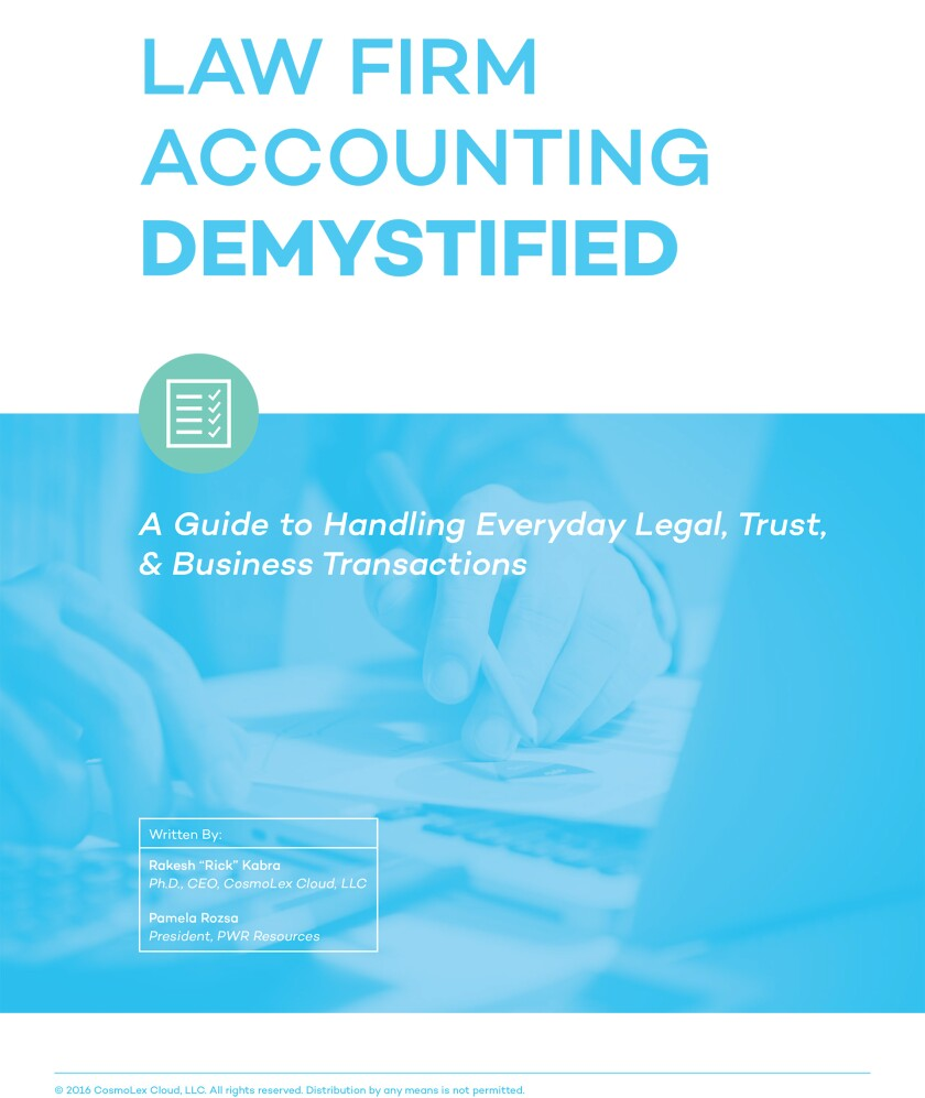 Law Firm Accounting Demystified