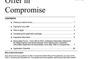 Form 656 Offer in Compromise booklet