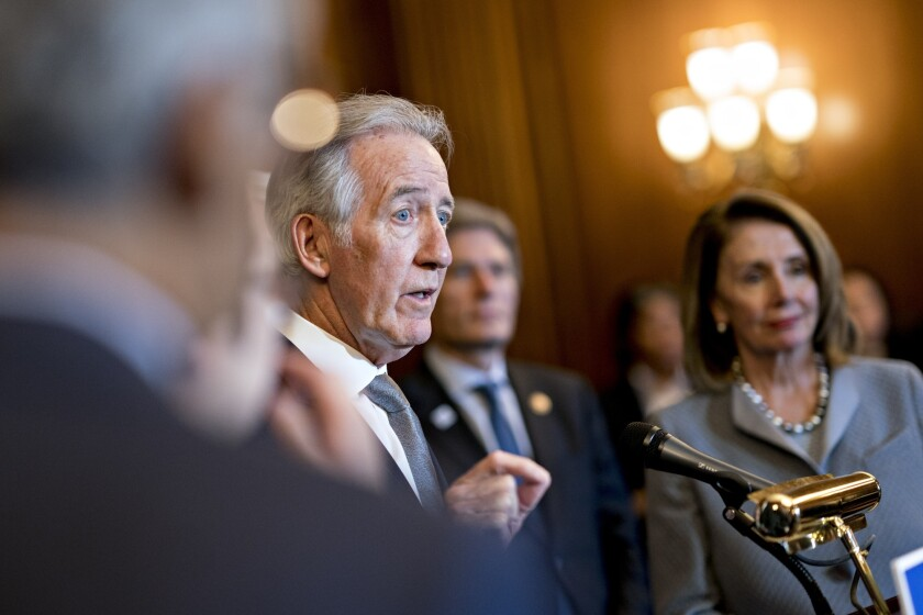 House Ways and Means Committee Chairman Richard Neal, D-Mass., and House Speaker Nancy Pelosi, D-Calif.