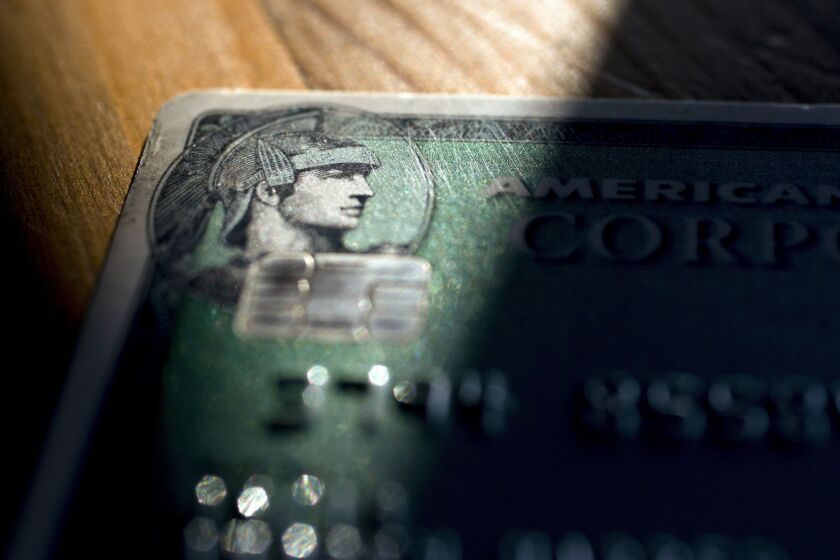 Logo on an American Express corporate card.
