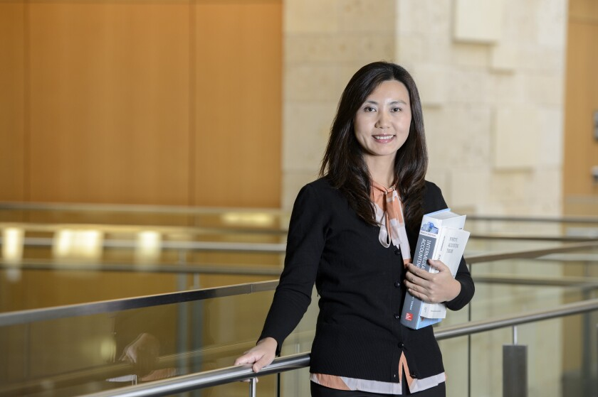 Lili Sun, an associate professor of accounting at the University of North Texas