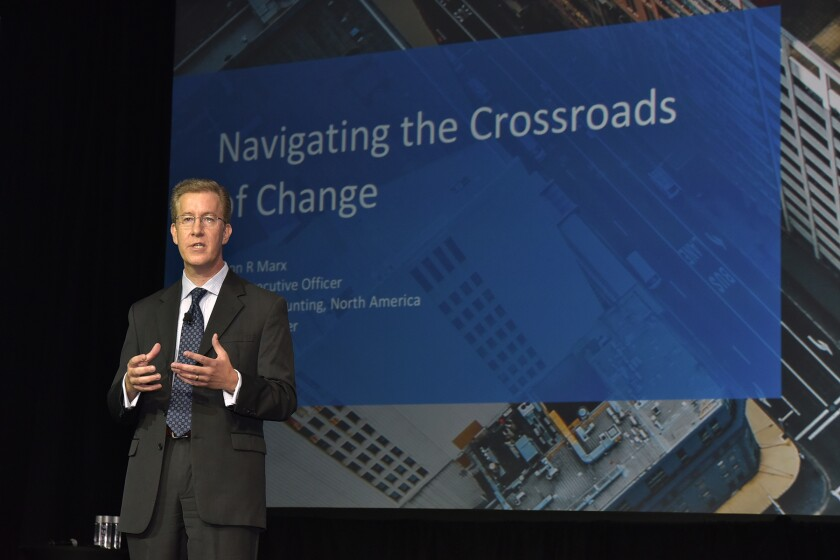 Jason Marx, CEO of Wolters Kluwer Tax & Accounting, North America, speaking at the CCH Connections user conference