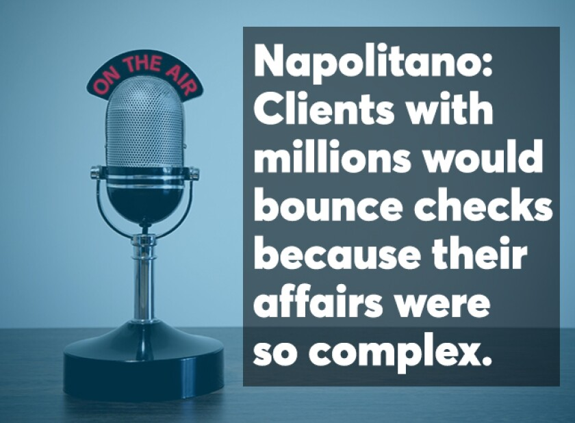 Napolitano family office podcast screen