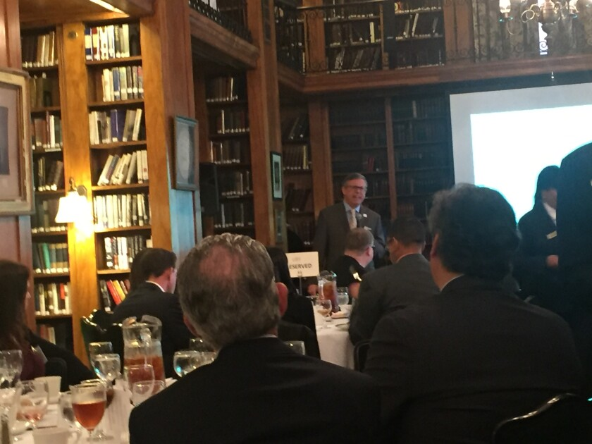 Institute of Management Accountants president and CEO Jeff Thomson  speaking at the Accountants Club of America