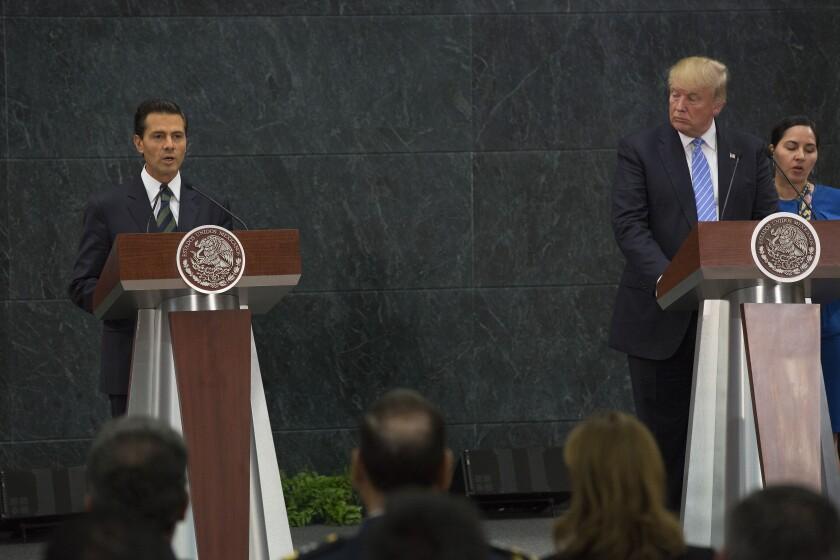 Trump meets Mexico president Enrique Pena Nieto