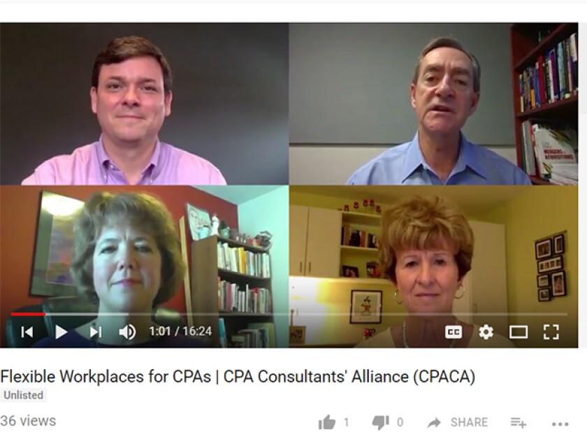 CPACA remote work video screen