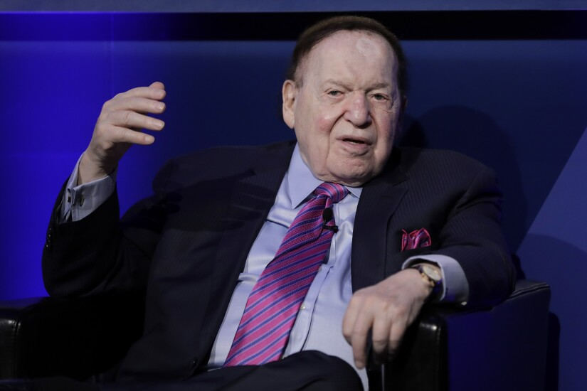 """Billionaire Sheldon Adelson is chairman and chief executive of Las Vegas Sands. Japan is the """"ultimate business opportunity"""" for integrated casino resorts, Adelson said during a keynote presentation in Tokyo."""
