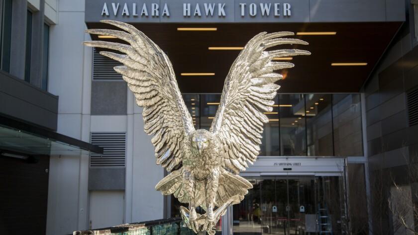 Avalara Hawk Tower entrance
