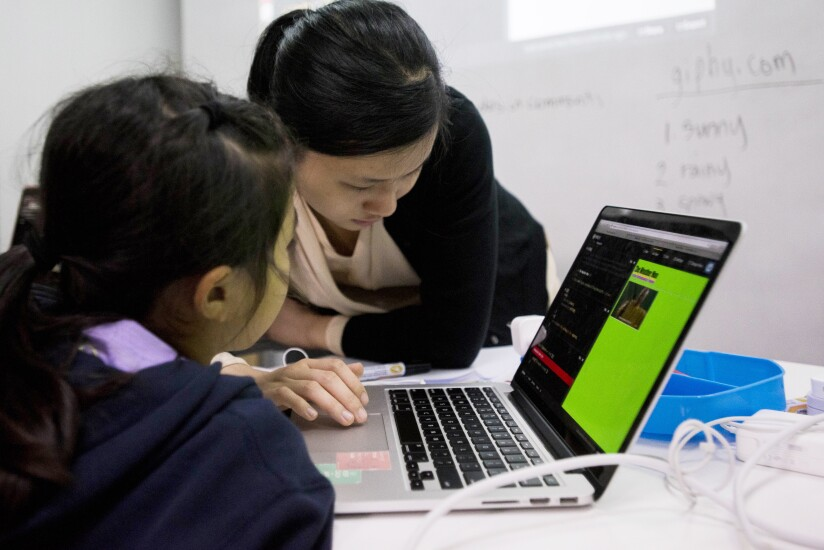 Students Attend Coding Class At The First Code Academy