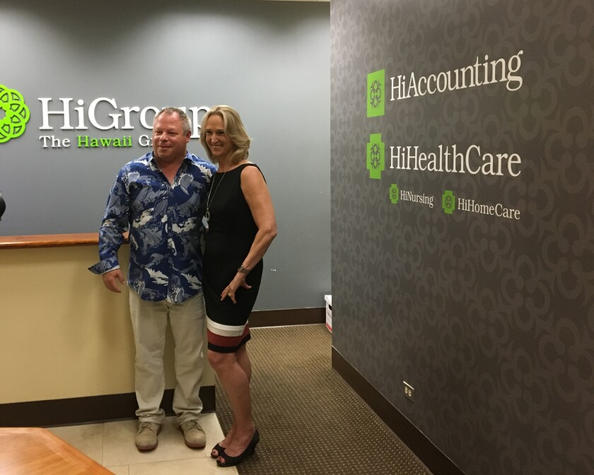 HiAccounting president Matthew Delaney and WR Financial president Janet Williams-Reyes